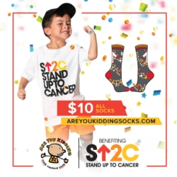 Stand Up To Cancer Sock Sale